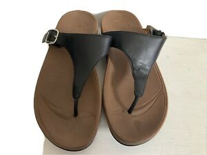 Fitflop Black Leather Ladies Size 6