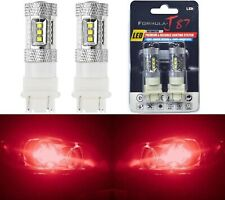 LED Light 80W 3047 Red Two Bulbs Rear Turn Signal Park Brake Tail Stop Fit