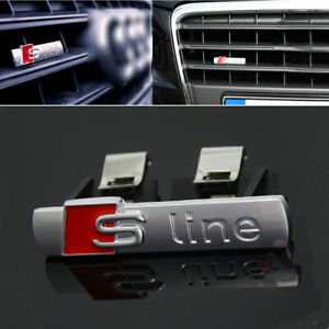 S Line Badge Original OEM Front Grill Emblems Chrome Decal Badges All Model HOT