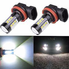 Alla Lighting 2x80W H11 H8 Xtremely Super White 6000K LED Fog Driving Light Bulb