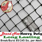 """Poultry Netting 50' x 150' 1"""" Heavy Knotted Anti Bird Net - 10 Year Lifespan!"""