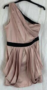 LIPSY LONDON Womens Dusky Pink One Shoulder Dress Size 14
