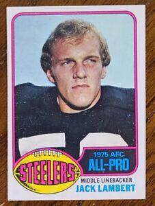 VINTAGE 1976 TOPPS JACK LAMBERT FOOTBALL CARD # 220 NM
