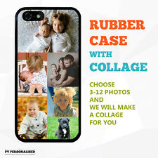 PERSONALISED TPU RUBBER Phone Case Cover for iPhone 5 6 7 SE & Samsung S6 S7 S8