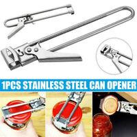 Adjustable Jar Lid Opener Can Bottle Gripper Kitchen Gadget Tool Stainless Steel