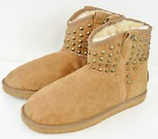 Koolaburra Chestnut Boots By UGG Size 7 US Women's Sheep  Skin and Real Fur