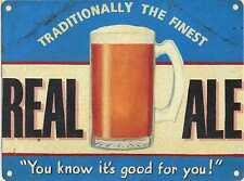 30x40cm Real Ale Beer Retro Large Metal Advertising Wall Sign