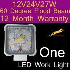 One LED Work Light flood beam lamp12V/24V/27W/6500K/60 Degree 1 yr warranty WS27