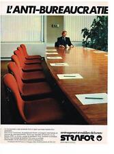 PUBLICITE   1979   STRAFOR   meubles de bureau