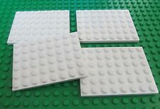 Lego 6x8 White Base Plates City Town Castle Star Wars Snow Hoth  Baseplates QTY4