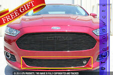 GTG 2013 - 2016 Ford Fusion 1PC Gloss Black Replacement Bumper Billet Grille