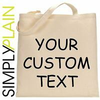 PERSONALISED TOTE COTTON BAG CUSTOM PHOTO TEXT STAG HEN DO CHRISTMAS GIFTS LOT