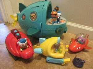 LOT  OF 12 PIECE Octonauts Gup-A Deluxe 12''  AND VEHICLES FIGURES ACCESSORS