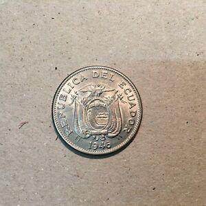 ECUADOR  1  SUCRE 1946  KM 78.2  AU-UNC.