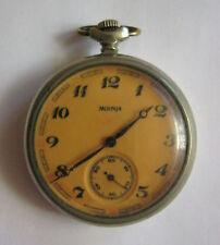 Vintage Soviet Russian Pocket Watch MOLNIJA MOLNIA 18j MELCHIOR TRAIN USSR