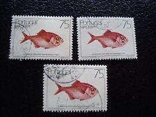MADEIRA portugal sello yvert y tellier nº 110 x3 matasellados A28 sello ha