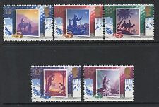 Great Britain Sc# 1234-38 Mint Nh Vf 1988 Christmas Set