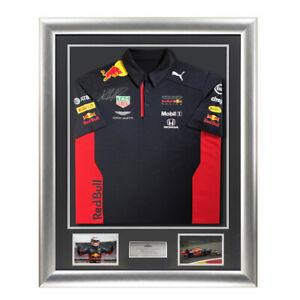 Signed Max Verstappen Shirt Framed Aston Martin Red Bull Display -  Formula 1