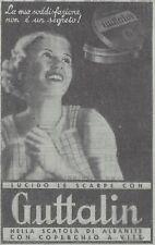 Y3565 Lucida le scarpe con GUTTALIN  - Pubblicità d'epoca - 1937 old advertising