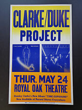 Clarke/Duke Project - Royal Oak Theatre - Original Vintage Concert Promo Poster