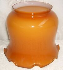 ***** VINTAGE AMBER FLUTED GLASS LAMP SHADE *****
