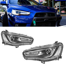 Headlights Headlamp Audi A5 Style For 2008-2017 Lancer Mitsubishi EVO LED DRL
