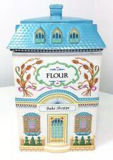 The Lenox Village Canisters Giftware Flour Canister Bake Shoppe 1990 Porcelain