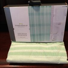 Threshold Shower Curtain NWT New Green Pleated 72 X 72 Inches