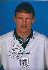 Teddy SHERINGHAM Signed Autograph 12x8 Photo AFTAL COA England Striker LEGEND