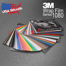 Newest 3M 1080 Sample Swatch Deck Book Wrap Vinyl Film Carbon Fiber Matte Gloss
