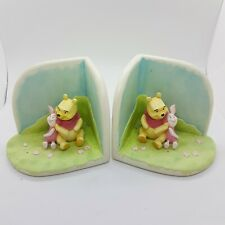 DISNEY Winnie The Pooh & Piglet Bookends Figures Ornaments Children's Gift