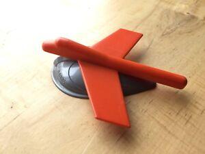 VINTAGE Plastic Plane desktop model F86 SABRE 1960's  Orange & Silver Tone