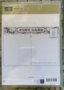 Stampin Up Post Card Clear Mount Stamp Set: vintage - shabby chic style 130369