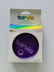 NIB Tervis Straw Lid Fits 24 oz Tumbler Purple New In Box (This is LID ONLY)