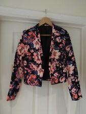 ATMOSPHERE Black/Neon Pink/Blue/Orange/Cream Floral Jacket Blazer UK Size 10