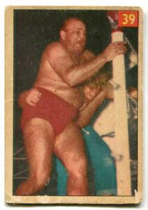 1954 Parkhurst Wrestling Nanjo Singh Card #39 The Hooded Hindu