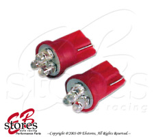 2pcs x T10 Wedge Red Rear Side Marker 3 LED Light Bulbs 2825 194 2821 -1 Pair