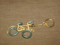 VINTAGE OLD CAR KEY CHAIN METAL PLASTIC WIRE BICYCLE