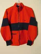 V7774 Odlo of Norway Red/Blue Cotton Zip Up 80's USA Made Ski Jacket Men's S