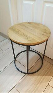 """Restoration Hardware Watts Reclaimed Russian Oak Side Table 19"""""""
