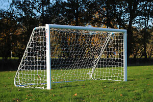 8x4ft Football Goal with folding frames- Great for the Garden - Made by MH Goals