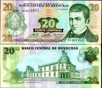 HONDURAS 20 LEMPIRAS 2006 P 93 UNC