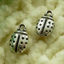 free ship 160 pieces tibetan silver ladybug charms 12x7mm #2946