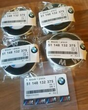 Bmw Alloy wheel 68mm centre caps & m sport sticker emblems