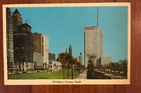 Vintage 1963 Michigan Avenue North Chicago Postcard Prudential Building Library