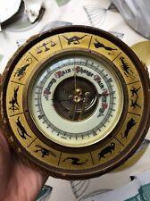 Barometer Retro Vintage Zodiac signs 1960's Mid Century Kitsch Clock Unusual