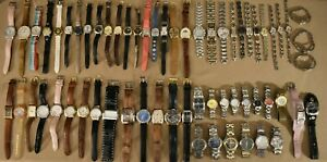 62 Guess Watches Steel Cuff Chronograph Watch Lot