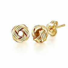 Yellow Gold Love Knot Earrings in Gift Pouch