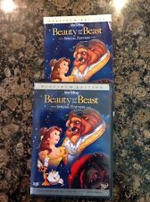 Beauty and the Beast DVD,2002,2-Disc,Platinum Edition)Authentic US -RARE Pop