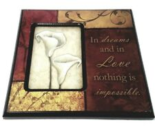 In Dreams And In Love Nothing Is Impossible White Lily White Rose Wall Plaque